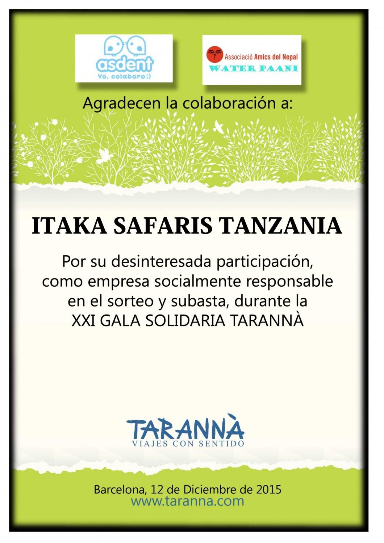 Itaka Safaris_Gala Solidaria Tarannà